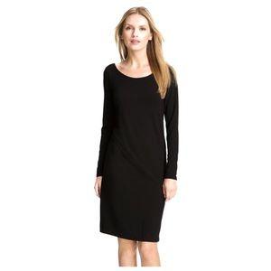 Eileen Fisher (M) Black V Back Jersey Dress